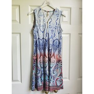 Summer Sleeveless Dress with Tassell